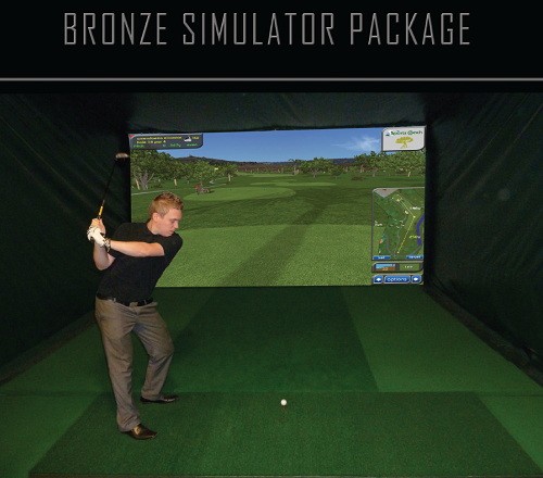 Bronze Simulator Overhead Camera Technology with 40 Golf Courses