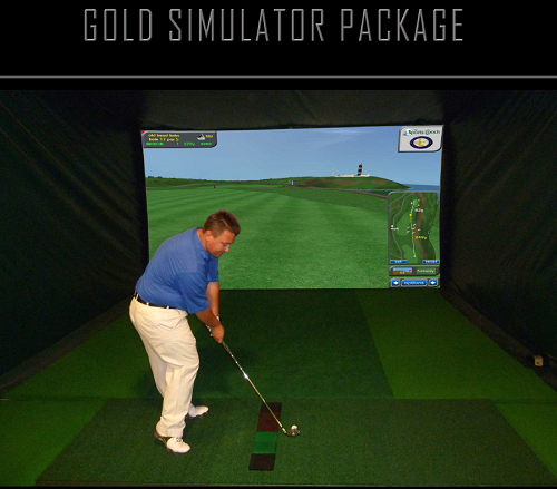 Gold Simulator 3D Camera Technology with 170 Golf Courses