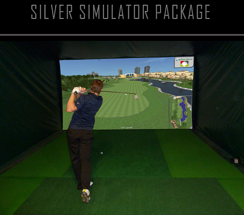 Silver Simulator 3D Camera Technology with 40 Golf Courses
